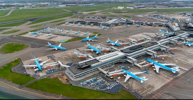 Amsterdam airport Schiphol saw passenger numbers in June, double the