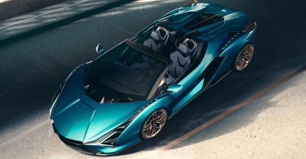 Lamborghini presents the open version of the hybrid, and Sián