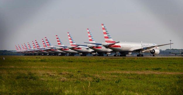 A lot fewer passengers, airlines USA, but a lot more veiligheidschecks