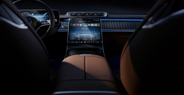 The large screens that dominate the interior of the new Mercedes S-Class