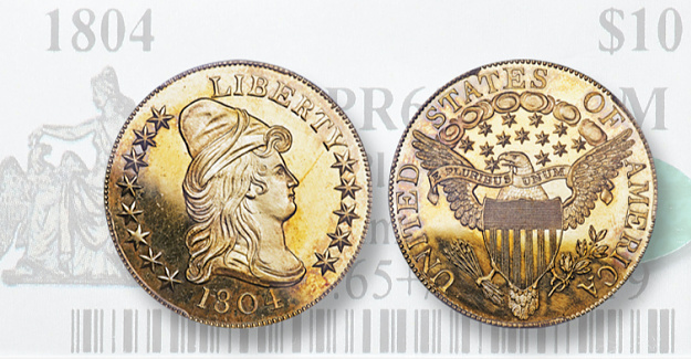 1804 gold eagle from Bob Simpson Collection sets List at Heritage