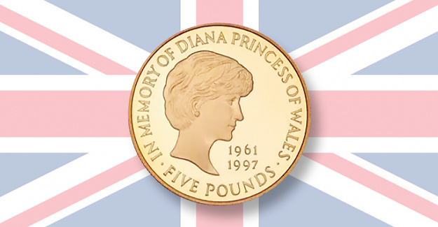 Princess Diana Proof gold 5 coin soars Available