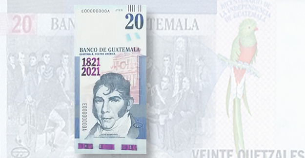 Bank of Guatemala commemorates 1821 Anniversary with a Commemorative Note