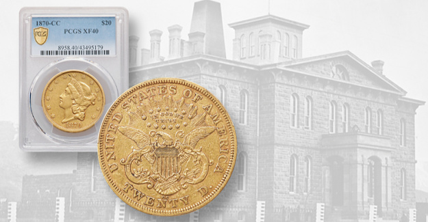 A rich story is told by an 1870-CC gold $20 double eagle