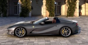 A Ferrari is selling half the cars in the second quarter of