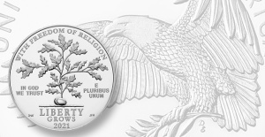 Proof 2021 platinum American Eagle Outside Feb. 4, first in First Amendment Show