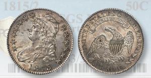 Market Analysis: Rare 1815/2 Capped bust half-dollar